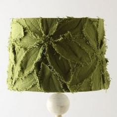 Lampshade idea.  Anthropologie $98 (DIY with an old bathrobe.)