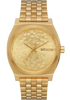 Nixon Time Teller SS Gold Hammered