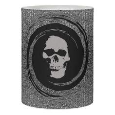 skull in the whirl flameless candle - home decor design art diy cyo custom