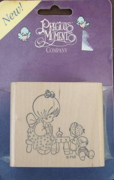 Precious Moments Rubber Stamp Girls or Dolls Tea Party New #PreciousMoments