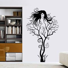 Woman Silhouette Illustration Removable Wall Sticker Art Decals - Wall stickershuhushopxaudrey hepburn beautiful eyes removable
