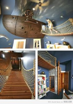 this type of rope railing is what I originally had in mind for the loft bed enclosure