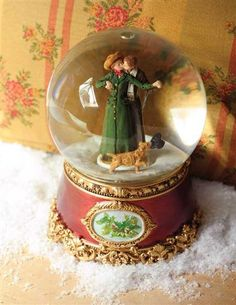 A Christmas Kiss Snowglobe from Victorian Trading Co.