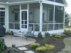Screened porch& open patio