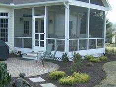 Screened porch& open patio