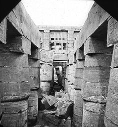 Egypt - Great hall, Karnak. (circa 1900) Brooklyn Museum Archives, Goodyear Archival Collection (S03_06_01_018 image 2382).