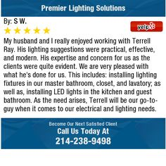 My husband and I really enjoyed working with Terrell Ray. His lighting suggestions were...