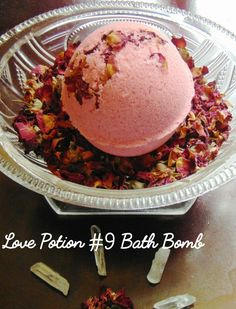 This bath bomb is huge at 7 oz and 3 inches across. The Love Potion #9 Bath Bomb is an intoxicating blend of jasmine fragrance, rosehip oil, ylang ylang, lavender, neroli, cedarwood, and rose that…MoreMore