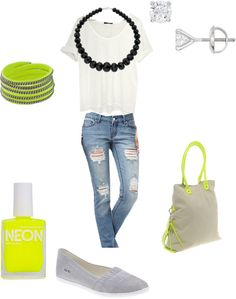 This is a cool casual neon look that we'll definitely be sporting this Summer.