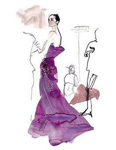Original Fashion Illustrations by famed artist David Downton, capture beauty in a form outside of lens and shutter but that are equally a...