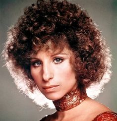 Barbra Streisand has never been considered much of a sex symbol – and standing around in panties, a Superman t-shirt, and a humongous Jew-fro sure doesn't help. Despite her odd appearance, though,… Short Curly Haircuts, Asymmetrical Hairstyles, Curly Hair Cuts, Short Hairstyles For Women, Curly Hair Styles, 1970s Hairstyles, Permed Hairstyles, Brown Hairstyles, Vintage Hairstyles