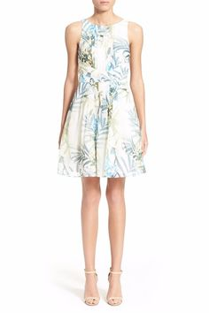 NWT Ted Baker Ameda Dress Pleat Floral Fit and Flare $349 – Ted 4, 5, US 10, 12 #TedBaker #PleatedFitandFlare