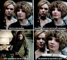 "Barbara + Selina in ""The Blind Fortune Teller"""