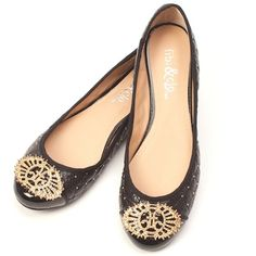 black and gold fibi & clo flats for Fall! 732.986.1207 https://fibiandclo.com/rosepolicastro