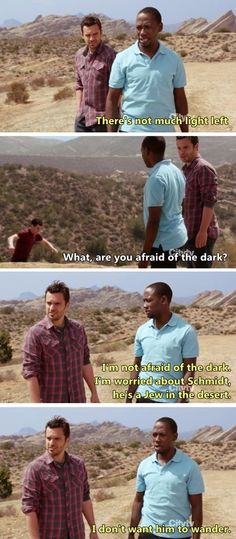 The moment when you read through this whole thing thinking it is Shawn and Gus from Psych because you didn't bother to look at their faces  after you saw a white guy and a black guy in the middle of nowhere and you automatically assumed it was Shawn and Gus. And now it's pinned to the Psych board and you don't know why.