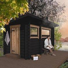 Outdoor Sauna, Outdoor Decor, Manhattan House, Sauna Ideas, Airbnb Ideas, Saunas, Blue Ridge, Modern Farmhouse, Outdoor Living