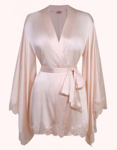 2d2025f64 Agent Provocateur Abbey Kimono Ivory Ml ( 735) ❤ liked on Polyvore  featuring intimates