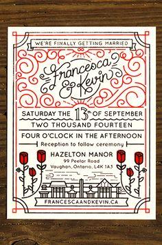 Wedding Invites by Kevin Moran #weddinginvitation