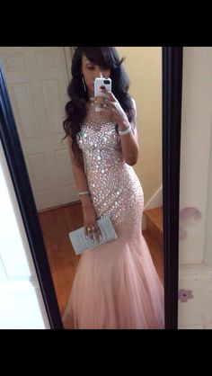 Beautiful Prom Dress with Mesh Top