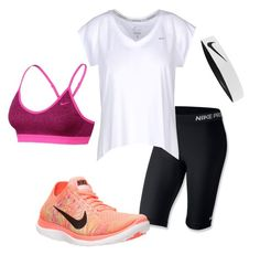 """""""Nike"""" by harrystyles-1d-jb-lover ❤ liked on Polyvore featuring NIKE"""