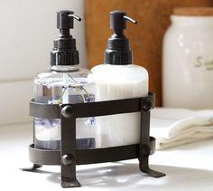 #LGLimitlessDesign #Contest  Vintage Blacksmith Soap/Lotion Caddy | Pottery Barn
