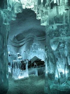 Ice Hotel in Kiruna, Sweden Apparently i need to go to every ice hotel in the world. Places Around The World, The Places Youll Go, Places To See, Around The Worlds, Beautiful World, Beautiful Places, Ice Castles, Sweden Travel, Iceland Travel