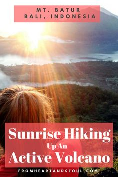 If you're in Bali, you can't miss seeing the sunrise at the top of Mt. Batur (which is an active volcano!). An Indonesian sunrise paired with volcanic steamed breakfast?! I can't think of a better way to start the morning!: