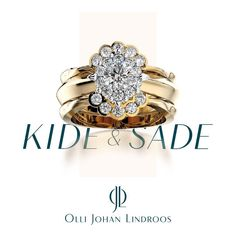 Sade, like a rain drop, smooth and round. Kide, like snow crystals, sparkly and unique.  Design Olli Johan Lindroos. ojl.fi/  Like woman, like ring.  #ollijohanlindroos #ojljewellery #weddingring #engagementring #goldsmithmaster #vihkisormus #kihlasormus #vuodenkauneinsormus2012 #vuodenkauneinsormus2016 #fiftyshadesofojl #love #photooftheday