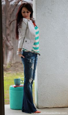 Day 3 of 5 Days/5 Outfits Challenge with Boot-Cut Jeans!   Creative Side of Me