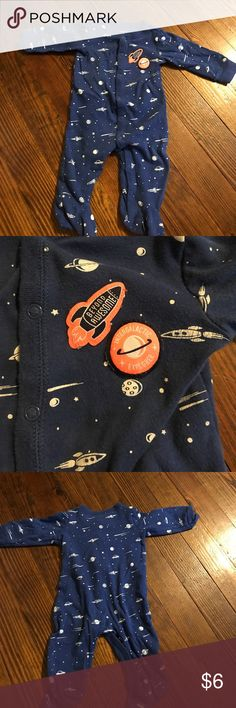 Carter's Sleep N Play GU. Carter's Sleep N play. Outer space theme. Navy blue. Carter's One Pieces Bodysuits