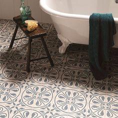 Azulejo bathroom floor tiles from Walls and Floors | Bathroom flooring | Shopping | housetohome.co.uk