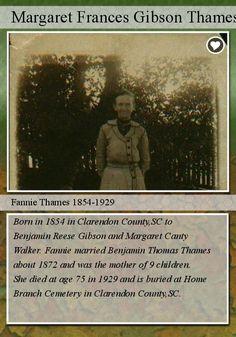 Carolina Girl Genealogy : Celebrating Women's History Month-Fannie's Trading Card