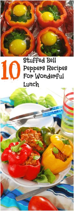 10 Stuffed Bell Peppers Recipes For Wonderful Lunch #recipes #peppers #lunch