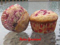 Muffins aux framboises, au chocolat noir et à la noix de coco | Bedon Gourmand