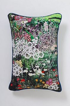 #Sequined Ikebana Cushion   Anthropologie.eu