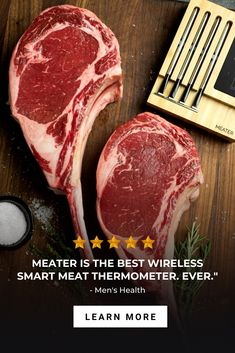 Achieve perfect and consistent results every time with the Wireless Meat Thermometer. Smoked Meat Recipes, Beef Recipes, Recipies, Grilling Tips, Grilling Recipes, Cooking Gadgets, Kitchen Gadgets, White Bean Recipes, Bbq Thermometer