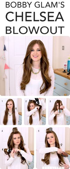 Perfect long-hair blowout