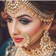 Indian bride makeup by uv ghai (c) kulwant singh mararr indian bridal jewel Indian Wedding Makeup, Indian Wedding Bride, Best Bridal Makeup, Indian Bridal Outfits, Indian Wedding Hairstyles, Bridal Makeup Looks, Indian Bridal Wear, Bride Makeup, Bridal Looks