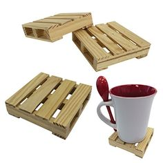 Rest your fun summer drink on these cute and easy to make wooden pallet coasters, or make a set for a housewarming gift.