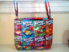 This guide contains ideas for juice pouch crafts. Many wonderful things can be made with Kool-Aid Jammers or Capri-Sun juice pouches. Tin Can Crafts, Candy Crafts, Fun Crafts, 16th Birthday Gifts, Birthday Gifts For Teens, Teen Birthday, Tape Painting, Painting Canvas, Teenage Girl Gifts