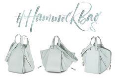 The innovative design of LOEWE's new shape.  Hammock Bag.