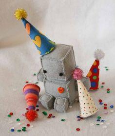 So cute ... stuffed robot toy [my inner nerd is showing :) ]