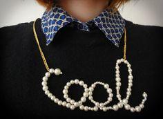 """""""coole"""" Perlenkette #cool #DIY #Geschmeide #Kette #Perlen #Perlenkette"""