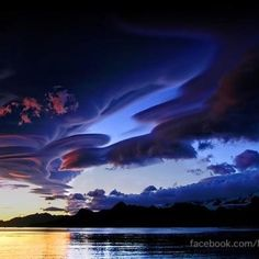 Lenticular clouds over Iceland