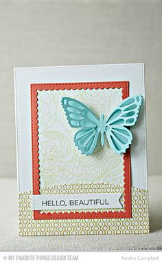 personalized custom note cards set of 6 greeting cards Butterfly Trio