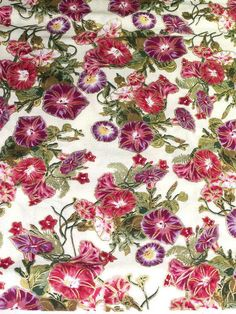 1 Set of 4 flowers petunias Placemats w/ Center Round by joyfully3