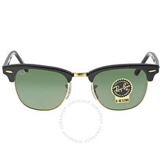 Ray-Ban Clubmaster Black 49mm Sunglasses RB3016-W0365-49 - Clubmaster - Ray-Ban - Sunglasses - Jomashop Clubmaster Sunglasses, Ray Ban Sunglasses, Lenses, Ray Bans, Black, Ray Ban Glasses, Black People