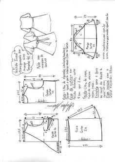 Vestido evasê transpassado com manga sino | DIY - molde, corte e costura - Marlene Mukai