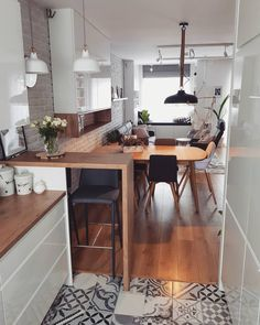 Home Decor Kitchen .Home Decor Kitchen Kitchen Living, New Kitchen, Kitchen Decor, Living Room, Apartment Interior, Apartment Design, Studio Apartment Kitchen, Studio Kitchen, Interior Design Kitchen