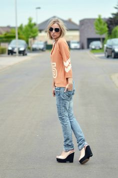 nelly top zara trf jeans zara trf pink nude wedge heels 2014 summer collection outfit post fashion blogger turn it inside out summer inspira...